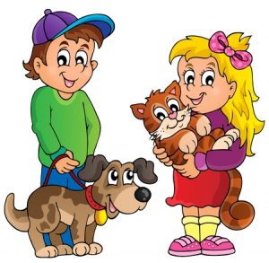 35432400 - children with pets theme